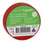 Изолента Schneider Electric Красная ПВХ 19мм/20м (2420100)