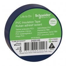 Изолента Schneider Electric Синяя ПВХ 19мм/20м (2420102)