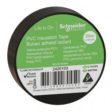 Изолента Schneider Electric Черная ПВХ 19мм/20м (2420103)