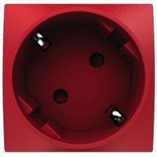 Розетка 45 со шторками красная ALTIRA