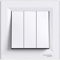 Выключатель 3-клавишный Schneider Asfora Белый (EPH2100121)