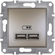 USB розетка 2,1A Asfora бронза EPH2700269
