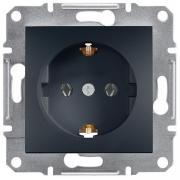Розетка с заземлением Schneider Electric Asfora EPH2900171 антрацит