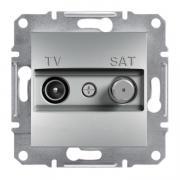 Розетка телевизионная TV-SAT индивидуальная Schneider Asfora алюминий