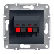 Аудиорозетка стерео Schneider Electric Asfora EPH5700171 антрацит