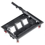 Лючок розеточный на 6 механизмов для пола Schneider Ultra ETK44112