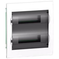 Щит пластиковый встраиваемый 2 ряда по 12 модулей Schneider Easy9 EZ9E212S2F черная прозрачная дверь