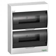 Щит пластиковый навесной 2 ряда по 12 модулей Schneider Easy9 EZ9E212S2S черная прозрачная дверь