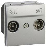 Розетка телевизионная проходная ТV-R/SAT Schneider Electric Unica алюминий
