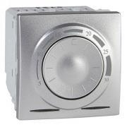 Термостат для теплого пола с датчиком температуры Schneider Unica алюминий MGU3.503.30
