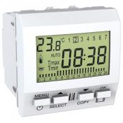 Термостат цифровой с таймером Unica белый MGU3.505.18