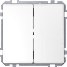 Выключатель двухклавишный Schneider Merten D-Life Белый лотос