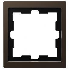 Рамка 1 постовая, Schneider Merten D-Life Мокко MTN4010-6535