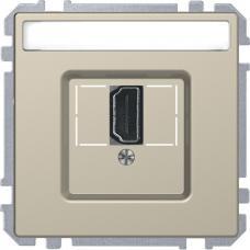 Розетка HDMI, одинарный Schneider Merten D-Life Сахара