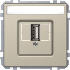 Розетка USB 2.0, одинарный, Schneider Merten D-Life Сахара
