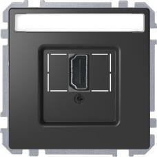 Розетка HDMI, одинарный Schneider Merten D-Life Антрацит