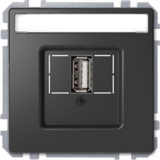 Розетка USB 2.0, одинарный, Schneider Merten D-Life Антрацит