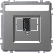 Розетка HDMI, одинарный Schneider Merten D-Life Нержавеющая сталь
