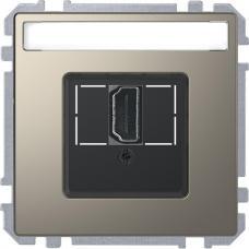 Розетка HDMI, одинарный Schneider Merten D-Life Никель