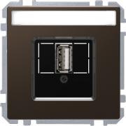 Розетка USB 2.0, одинарный, Schneider Merten D-Life Мокко