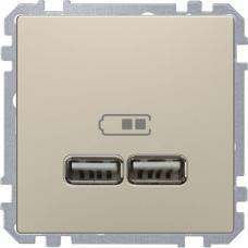 Розетка USB двойная зарядное устройство Schneider Merten D-Life Сахара
