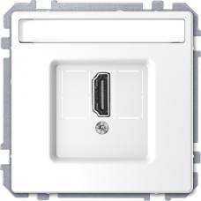 Розетка HDMI, одинарный Schneider Merten D-Life Белый лотос