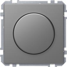 Диммер поворотный для LED ламп, Schneider Merten D-Life Нержавеющая сталь
