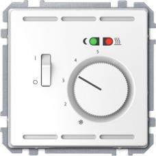 Терморегулятор пола 230 В с переключателем, Schneider Merten D-Life Белый лотос
