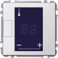 Универсальный программируемый терморегулятор с сенсорным дисплеем, Schneider Merten D-Life Белый лотос