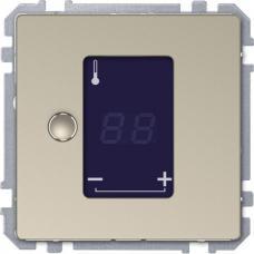 Универсальный терморегулятор с сенсорным дисплеем Schneider Merten D-Life Сахара