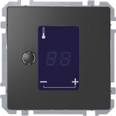 Универсальный терморегулятор с сенсорным дисплеем, Schneider Merten D-Life Антрацит