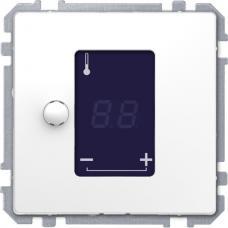 Центр. плата для механизма универсального терморегулятора с сенсорным дисплеем, Schneider Merten D-Life Белый лотос