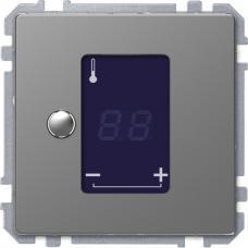 Универсальный терморегулятор с сенсорным дисплеем, Schneider Merten D-Life Нержавеющая сталь