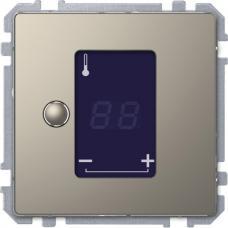 Универсальный терморегулятор с сенсорным дисплеем, Schneider Merten D-Life Никель