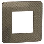 Рамка 1-постовая, бронза/бежевый, Schneider Unica New Studio Metal (NU280251)