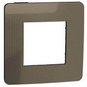 Рамка 1-постовая, бронза/антрацит, Schneider Unica New Studio Metal (NU280252)