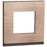 Рамка 1-постовая горизонтальная, дуб, Schneider Unica New Studio Pure (NU600284)