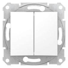 Выключатель двухклавишный Седна SDN0300121 белый
