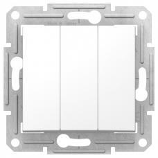 Выключатель трехклавишный Sedna SDN0300621 белый
