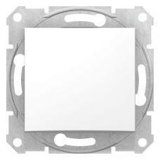 Выключатель одноклавишный кнопочный Седна SDN0700121 белый