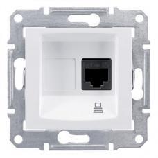 Розетка компьютерная RJ45 UTP кат.5е Седна SDN4300121 белая
