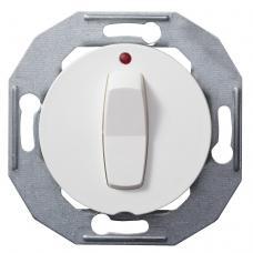 Выключатель кнопочный с подсветкой Renova Белый
