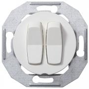Выключатель двухклавишный проходной Renova Белый