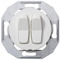 Выключатель двухклавишный Renova Белый