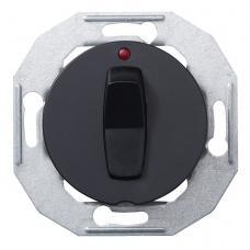 Выключатель кнопочный с подсветкой Renova Черный
