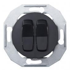 Выключатель двухклавишный Renova Черный