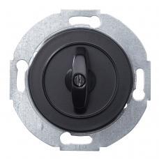Выключатель поворотный на 2 направления Renova Черный