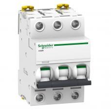 Автоматический выключатель Schneider Acti9 iC60N 6А 3P тип С 6кА A9F79306