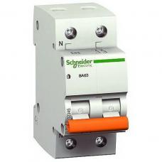 Автоматический выключатель Schneider ВА63 1П+Н 6A C