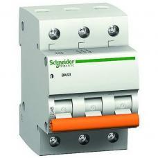 Автоматический выключатель Schneider ВА63 3П 6A C